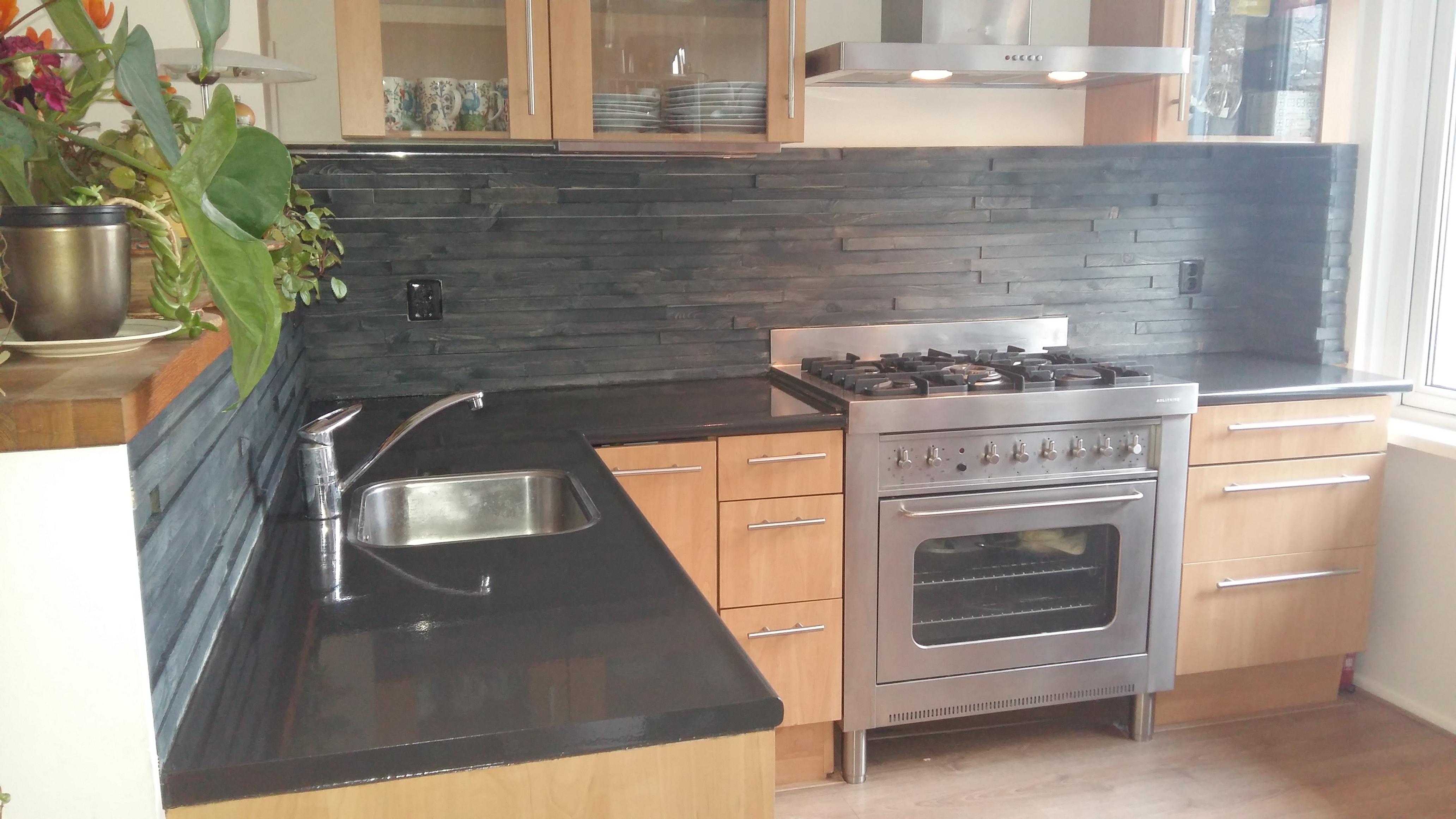 Keuken Met Boekenkast : Keuken lichtblauw langbroek vri interieur